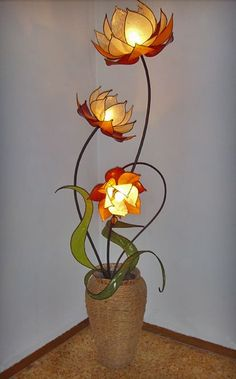 Three Lotus Floor Lamp