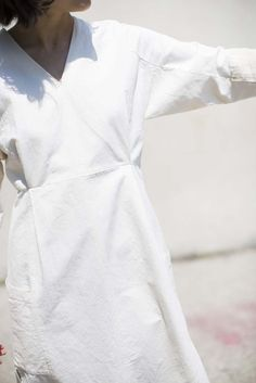Cosmic Wonder Hemp Work Dress In Natural | Oroboro Store | Brooklyn, NY