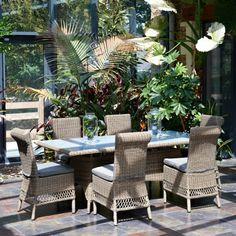 Salon de jardin Luxe VENDOME en aluminium et résine tressée de la marque Paris Garden
