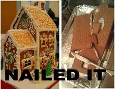 The gingerbread house sadly failed to inspire.