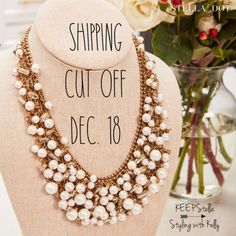 Last day to order Stella & Dot for Christmas delivery Stella And Dot Jewelry, Christmas Delivery, Stella Dot, Other Accessories, Happy Shopping, Gifts For Her, Dots, Gift Ideas, Sassy