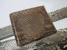Genuine python Skin wallet  Diamond vintange  1894 by Ossora