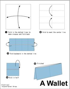 Envelope folding instructions how to make an easy origami envelope - 1000 Ideas About Origami Wallet On Pinterest Origami
