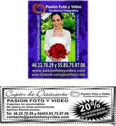 Los mejores fotógrafos profesionales para que las fotos y el video de tu fiesta sea inolvidable.  Tel: 55-85-75-97-06 pasionfotoyvideo@yahoo.com.mx