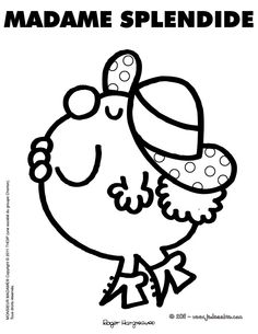 MADAME SPLENDIDE Monsieur Madame, Coloring Pages, Colouring, Rock Design, Silhouette Portrait, Little Miss, Vintage Images, Applique, Garance