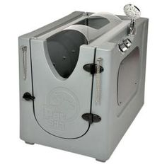 35 in. x 24.7 in. Pet Shower and Grooming Enclosure with Splash Guard and Removable Shelf