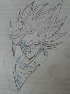 Dbz Drawings, Cool Art Drawings, Goku Manga, Dragon Super, Epic Characters, Hot Anime Boy, Dragon Ball Gt, Son Goku, Illustrations And Posters