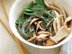 Asian Chicken Noodle Soup | The Good News The Chinese have considered the shiitake a symbol of longevity for thousands of years; recent research shows that it's a great source of...