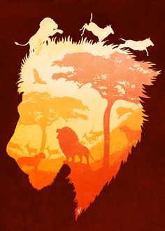 The Soul of a LionFascinating metal poster designed with love by diogoverissimo Decorate your space Lion King Musical, Lion Africa, Tiger Artwork, Lion Tattoo Sleeves, Lion Poster, Lion Illustration, Lion Wallpaper, Nature Posters, Le Roi Lion