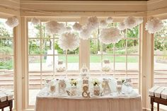 replicating a white lolly buffet with the pom poms x Lolly Buffet, Candy Buffet, Sister Wedding, Our Wedding, Wedding Stuff, Beach Wedding Decorations, Table Decorations, Bomboniere Ideas, Party Planning