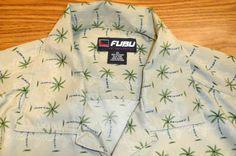 Preowned Men's 2XL FUBU Palm Tree  Short Sleeve #FUBU #Hawaiian