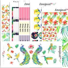 Tropical planner sticker kit  for erin condren planner stickers  happy planner stickers kit  SK001