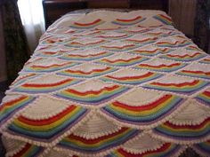 Craftingranny's Craft & Sewing Room » Rainbow Afghan Pattern » Print