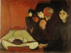 Edvard Munch >> Agonía (1895)     (, obra de arte, reproducción, copia, pintura).