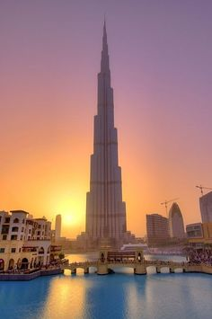 Burj Khalifa in Dubai is the tallest man made structure in the world.