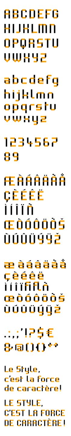 "Type Design : H.Munier © / 2009-2010 > d'après la ""Minimu"" de Pierre Di Sciullo"