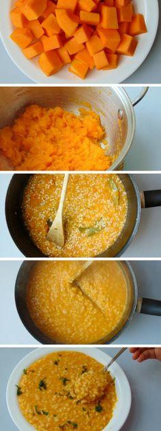 recetas con calabaza saludables | risotto de calabaza