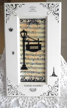 Nice idea for a house plaque! The address on top, house number on the lamp post sign, last name (and established date) below. Nice housewarming gift!
