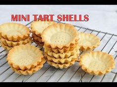 I made delicious mini tart shells. They are perfect for mini desserts. Fill them with custard, cream cheese, whipped cream, ganache, caramel and more. You ca...