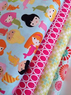Mermaid fabric bundle by Anne Kelle for Robert by fabricshoppe, $12.00