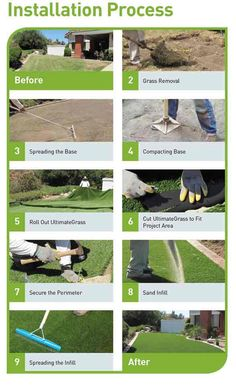 Properly installing artificial turf is an important process to ensure that it lasts Turf Installation, Artificial Grass Installation, Artificial Turf, Artificial Grass Ideas, Artificial Putting Green, Back Gardens, Outdoor Gardens, Jardin Vertical Artificial, Backyard Putting Green