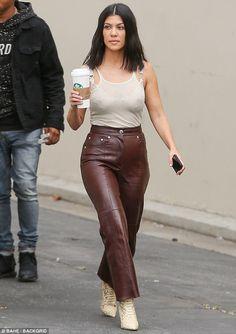 Take it Yeezy in snakeskin boots like Kourtney #DailyMail Click 'Visit' to buy now #celebritystyle #fashion #yeezy #kourtneykardashian