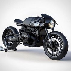 """bike-exif: """"Via @ziggymoto: a BMW R NineT concept with conventional forks. We're sold. #bmw #caferacer #concept #caferacersofinstagram #motorcycle #bikeexif """""""