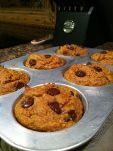 gluten free & sugar free pumpkin muffins