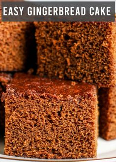 Aug 2019 - Take a bite of Christmas with this Easy Gingerbread Cake. It's a small homemade cake with the best gingerbread flavor. Leave plain or top with frosting. Christmas Desserts, Christmas Baking, Easy Christmas Cake Recipe, Italian Christmas, Food Cakes, Cupcake Cakes, Cupcakes, Brownies Au Nutella, Molasses Cake