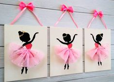 Items similar to Dancing ballerinas wall art Set of 3 paintings Girls room decor Kids decor Nursery room decor Ballerina tutu Ballerina wall decor Pink White on Etsy Ballerina Painting, Ballerina Art, Painting Of Girl, Ballerina Silhouette, Painting Walls, Nursery Canvas Art, Nursery Paintings, Wall Canvas, 3 Piece Wall Art