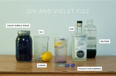 Summer Sipping : Gin and Violet Fizz Cocktail