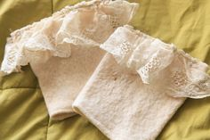 Upcycled White Lace Sweater Boot Cuffs - pinned by pin4etsy.com