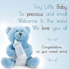 Congratulations baby boy message (Use as an e-card, or facebook post!)
