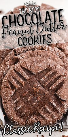 Delicious Cookie Recipes, Best Cookie Recipes, Dessert Recipes, Yummy Food, Baking Recipes, Peanut Butter No Bake, Chocolate Peanut Butter Cookies, Peanut Butter Cookie Recipes, Italian Butter Cookies