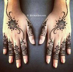 Beautiful henna hands
