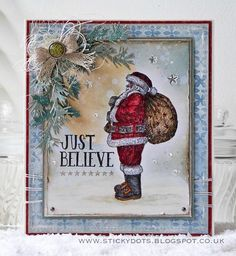 Believe In The Magic Of Christmas... Created by Emma Williams using stamps by Tim Holtz