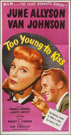 Best Film Posters : TOO YOUNG TO KISS A