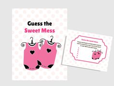 5_Twins Baby Sweet Mess game, Name that poo, Dirty Diaper Baby Shower, Printable baby shower Game, Activity, Download