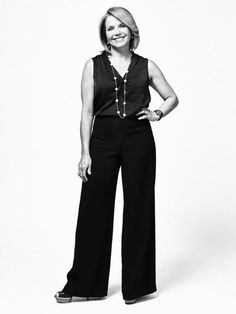 News anchor Katie Couric photographed in New York City, March <br><br>From Questions. Katie Couric, Best Portraits, News Anchor, New York City, March, Jumpsuit, This Or That Questions, Inspiration, Fashion