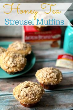 Must have these Honey Tea Streusel Muffins this weekend! http://www.lifewiththecrustcutoff.com/honey-tea-streusel-muffins/#comment-119390