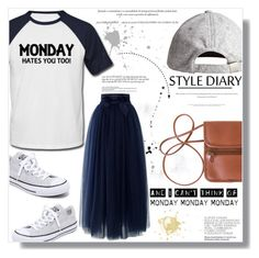 """""""Hey Monday"""" by es-vee ❤ liked on Polyvore featuring Converse, Chicwish, H&M and Monday"""