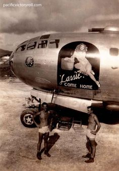 "B-29 42-24609, 498BG, T-21, ""Lassie Come Home"" flew as good as her name on her last wartime mission."