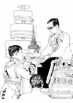 King Of Kings, My King, King Queen, King Rama 10, King Painting, Queen Sirikit, Bhumibol Adulyadej, Great King, Thai Art