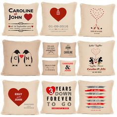 Personalised Valentines Day Anniversary Love Cushion Gift For Him Her Partner On The High Street, Love Your Life, Boyfriends, Valentine Day Gifts, Gifts For Him, Personalized Gifts, Anniversary, Cushions, Modern