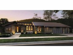 Eplans Contemporary-Modern House Plan - Three Bedroom Contemporary - 3296 Square Feet and 3 Bedrooms(s) from Eplans - House Plan Code HWEPL67297