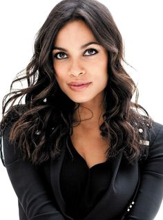 rosario dawson makes me smile cause she reminds me of you and your face makes my day