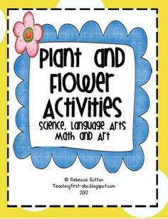 I think you will fall in love with this packet! It is chalk-full of activities for your young learner! This is a terrific addition to any plant uni...