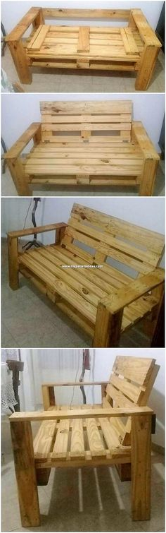 Check out with such a true deal extraordinarily suitable designed bench frames for the beauty of you Wooden Pallet Coffee Table, Wood Pallet Planters, Wooden Pallets, Pallet Benches, Pallett Ideas, Diy Pallet Projects, Pallet Furniture, Furniture Plans, Wall Shelf Decor
