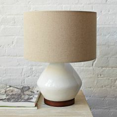 Mia Table Lamp - White | west elm