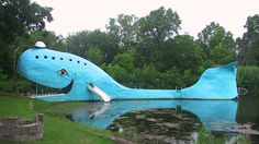 Route 66 Road Trip = blue whale in OK.  You cannot swim but you can go on it.